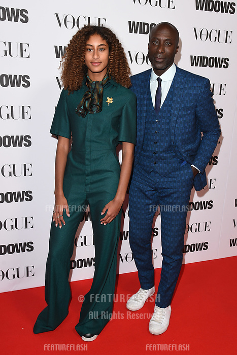 "LONDON, UK. October 31, 2018: Emilia Boateng & Oswald Boateng at the ""Widows"" special screening in association with Vogue at the Tate Modern, London.<br /> Picture: Steve Vas/Featureflash"