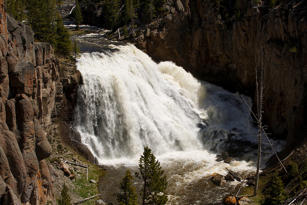 Gibbon Falls is pictured in Yellowstone National Park, Wyoming on Wednesday, May 24, 2017. (Photo by James Brosher)