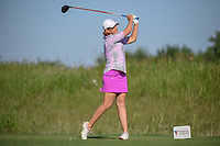 Juli Inkster (USA) watches her tee shot on 8 during round 1 of  the Volunteers of America LPGA Texas Classic, at the Old American Golf Club in The Colony, Texas, USA. 5/5/2018.<br /> Picture: Golffile | Ken Murray<br /> <br /> <br /> All photo usage must carry mandatory copyright credit (&copy; Golffile | Ken Murray)