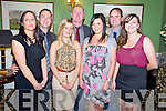 Ger and Mike Lynch, Stacey and John O@Leary, Sheree Murphy, Justin McCarthy and Christina Murhill at the Killarney Community College 25th anniversary social in the Dromhall Hotel, Killarney on Friday night.