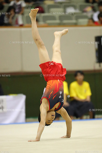 Masaharu Tanida (), <br /> AUGUST 21, 2017 - Artistic Gymnastics : <br /> 48th All Japan Junior High School Championships <br /> Men's Individual All-Around <br /> Floor Exercise <br /> at Kitakyushu City General Gymnasium, Fukuoka, Japan. <br /> (Photo by YUTAKA/AFLO)