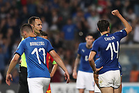 Federico Chiesa of Italy celebrates with team mates after scoring a goal<br /> Reggio Emilia 22-06-2019 Stadio Città del Tricolore <br /> Football UEFA Under 21 Championship Italy 2019<br /> Group Stage - Final Tournament Group A<br /> Belgium - Italy<br /> Photo Cesare Purini / Insidefoto