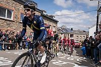 Aaron Gate (NZL/Aqua Blue Sport) leading the race up C&ocirc;te de Saint-Roch in  Houffalize<br /> <br /> 103rd Li&egrave;ge-Bastogne-Li&egrave;ge 2017 (1.UWT)<br /> One Day Race: Li&egrave;ge &rsaquo; Ans (258km)