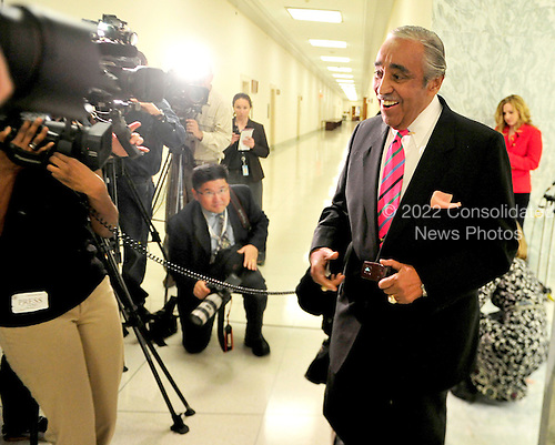 United States Representative Charles Rangel (Democrat of New York) walks away from the media after making a statement as he returned to his Capitol Hill office in Washington, D.C. on Tuesday, November 16, 2010.  .Credit: Ron Sachs / CNP..(RESTRICTION: NO New York or New Jersey Newspapers or newspapers within a 75 mile radius of New York City)