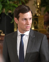 White House senior advisor Jared Kushner prior to US President Donald J. Trump arriving to announce he will name Principal Deputy White House Chief of Staff Kirstjen Nielsen as Secretary of Homeland Security in the East Room of the White House in Washington, DC on Thursday, October 12, 2017.  If confirmed, Nielsen will replace Acting US Secretary of Homeland Security Elaine C. Duke, who has been in that position since General John F. Kelly, USMC (Retired) resigned to become White House Chief of Staff.<br /> Credit: Ron Sachs / CNP /MediaPunch