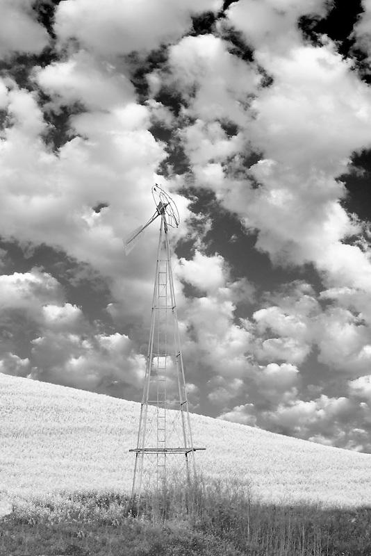 Old windmill. The Palouse near Colfax, Washington