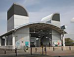Island Gardens railway station, Docklands Light Railway, Millwall, London, England