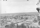 An elevated view of northwestern Santa Fe.<br /> Santa Fe, NM  Taken by Nusbaum, Jesse L. - circa 1912