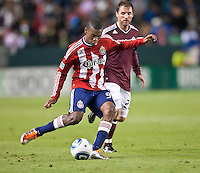 CARSON, CA – MARCH 26: Chivas USA forward Victor Estupinan (99) during the match between Chivas USA and Colorado Rapids at the Home Depot Center, March 26, 2011 in Carson, California. Final score Chivas USA 0, Colorado Rapids 1.