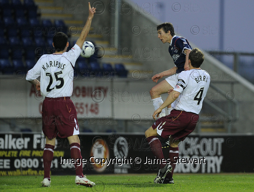 05/05/2008   Copyright Pic: James Stewart.File Name : sct_jspa09_falkirk_v_hearts.CARL FINNIGAN SCORES FALKIRK'S SECOND.James Stewart Photo Agency 19 Carronlea Drive, Falkirk. FK2 8DN      Vat Reg No. 607 6932 25.Studio      : +44 (0)1324 611191 .Mobile      : +44 (0)7721 416997.E-mail  :  jim@jspa.co.uk.If you require further information then contact Jim Stewart on any of the numbers above........