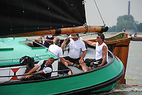 ZEILEN: LEMMER: Lemster baai, 31-07-2014, SKS skûtsjesilen, winnaar skûtsje De Sneker Pan, schipper Douwe Jzn. Visser, ©foto Martin de Jong