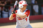 MADISON, WI - APRIL 16: Ricci Robben #7 of the Wisconsin Badgers softball team bats against the Indiana Hoosiers at Goodman Diamond on April 16, 2007 in Madison, Wisconsin. (Photo by David Stluka)