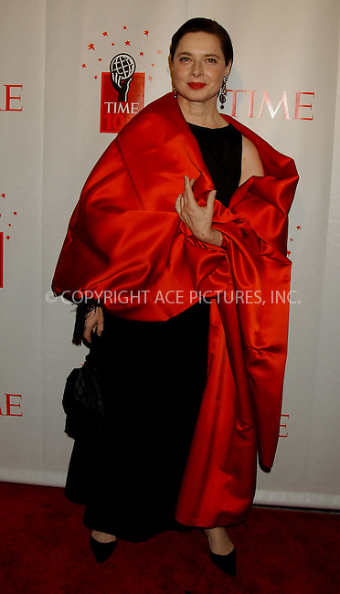 WWW.ACEPIXS.COM . . . . . ....NEW YORK, MAY 8, 2006....Isabella Rosellini at Time Magazine's 100 Most Influential People 2006.....Please byline: KRISTIN CALLAHAN - ACEPIXS.COM.. . . . . . ..Ace Pictures, Inc:  ..(212) 243-8787 or (646) 679 0430..e-mail: picturedesk@acepixs.com..web: http://www.acepixs.com