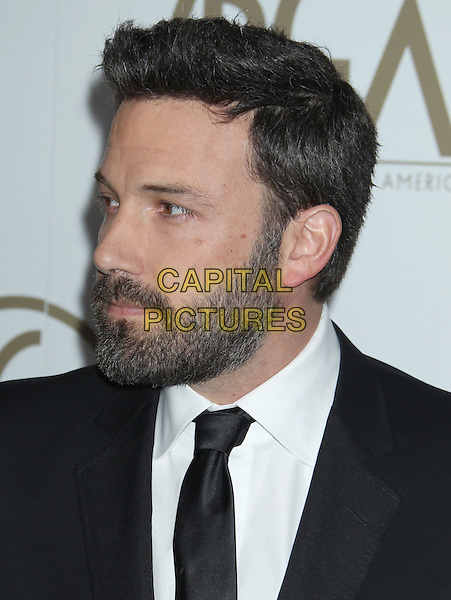 Ben Affleck.At the 24th Annual Producers Guild Awards held at the Beverly Hilton Hotel, Beverly Hills, California, USA,.26th January 2013..PGAs PGA arrivals headshot portrait profile black white shirt tie suit beard facial hair  .CAP/ADM/RE.©Russ Elliot/AdMedia/Capital Pictures.