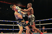 30th September 2017, Echo Arena, Liverpool, England; Matchroom Boxing, Eliminator for WBA Bantamweight World Championship; WBA International Super-Lightweight Championship tom farrell versus ohara davies; Ohara Davies lands a fantastic left on Tom Farrell's chin