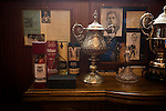 Trophies and whisky in the boardroom at Borough Briggs, home to Elgin City, on the day they played SPFL2 newcomers Edinburgh City. Elgin City were a former Highland League club who were elected to the Scottish League in 2000, whereas Edinburgh City became the first club to gain promotion to the League by winning the Lowland League title and subsequent play-off matches in 2015-16. This match, Edinburgh City's first away Scottish League match since 1949, ended in a 3-0 defeat, watched by a crowd of 610.