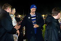 Luke Charteris and the rest of the Bath Rugby team leave the field after the final whistle. Premiership Rugby Cup match, between Bath Rugby and Gloucester Rugby on February 3, 2019 at the Recreation Ground in Bath, England. Photo by: Patrick Khachfe / Onside Images