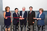 Jiwei Zheng Vice Governor of Zhejiang Province  officially launched the Chinese Cultural Festival on Saturday  at the Kerry County Museum Pictured here with Jianguo Xu, Chinese Ambassador to Ireland, Mayor of Kerry Pat McCarthy, Sandra Leahy and Helen O'Carroll (Museum Curator)