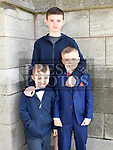Sean Mulhall from Aston Village Educate Together who recieved first holy communion in St Peters church West street with brothers Kian and James. Photo:Colin Bell/pressphotos.ie