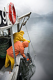 CANADA, Vancouver, British Columbia, fishing for Spotted Prawns in the Burrard Inlet, aboard the boat Organic Ocean