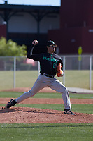 during the Baseball Factory All-America Pre-Season Tournament, powered by Under Armour, on January 14, 2018 at Sloan Park Complex in Mesa, Arizona.  (Freek Bouw/Four Seam Images)