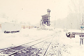 A winter view of the Chama yards of the C&amp;TS.<br /> C&amp;TS  Chama, NM