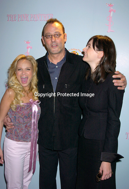 Kristin Chenoweth, Jean Reno and Emily Mortimer ..at the Pink Panther start of Production Press Conference on May 7, 2004 at the Waldorf Astoria Hotel.                    Photo by Robin Platzer, Twin Images