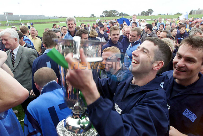 Celebrations after Newtown Blues victory over Stabannon on Sunday..Picture Paul Mohan Newsfile