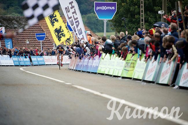 on his way to victory: Sven Nys (BEL/Crelan-AAdrinks) storming towards the finish<br /> <br /> GP Mario De Clercq<br /> Hotondcross 2014