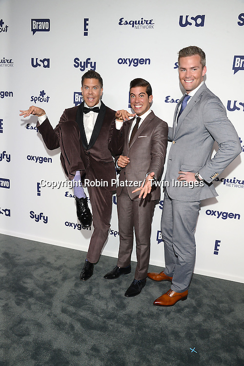 Fredrik Eklund, Luis D Ortiz and Ryan Serhant  attend the NBCUniversal Cable Entertainment Upfront <br /> on May 15, 2014 at The Javits Center North Hall in New York City, New York, USA.