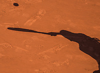 Paris, France, 1 June, 2017, Tennis, French Open, Roland Garros, schaduw on claycourt<br /> Photo: Henk Koster/tennisimages.com