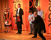 """Pluck"" body theatre with music include some audience participation, Leconfield Hall, Petworth Festival, West Sussex."