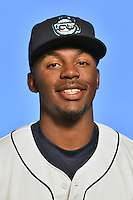 Asheville Tourists outfielder Terry McClure (5) poses for a photo at Story Point Media on April 5, 2016 in Asheville, North Carolina. (Tony Farlow/Four Seam Images)