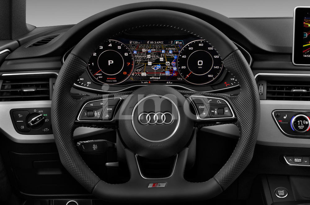 Car pictures of steering wheel view of a 2017 Audi A5 Sportback Premium 5 Door Hatchback