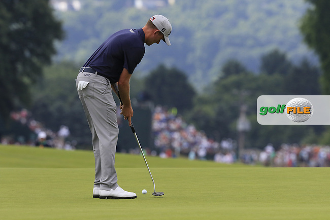 Geoff Ogilvy (AUS) takes his putt on the 3rd green during Friday's Round 1 of the 2016 U.S. Open Championship held at Oakmont Country Club, Oakmont, Pittsburgh, Pennsylvania, United States of America. 17th June 2016.<br /> Picture: Eoin Clarke | Golffile<br /> <br /> <br /> All photos usage must carry mandatory copyright credit (&copy; Golffile | Eoin Clarke)
