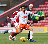 Blackpool's Nya Kirby pushes forward<br /> <br /> Photographer David Shipman/CameraSport<br /> <br /> The EFL Sky Bet League One - Charlton Athletic v Blackpool - Saturday 16th February 2019 - The Valley - London<br /> <br /> World Copyright © 2019 CameraSport. All rights reserved. 43 Linden Ave. Countesthorpe. Leicester. England. LE8 5PG - Tel: +44 (0) 116 277 4147 - admin@camerasport.com - www.camerasport.com