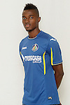 Getafe's new player Bernard Mensah during his official presentation. August 5, 2014. (ALTERPHOTOS/Acero)