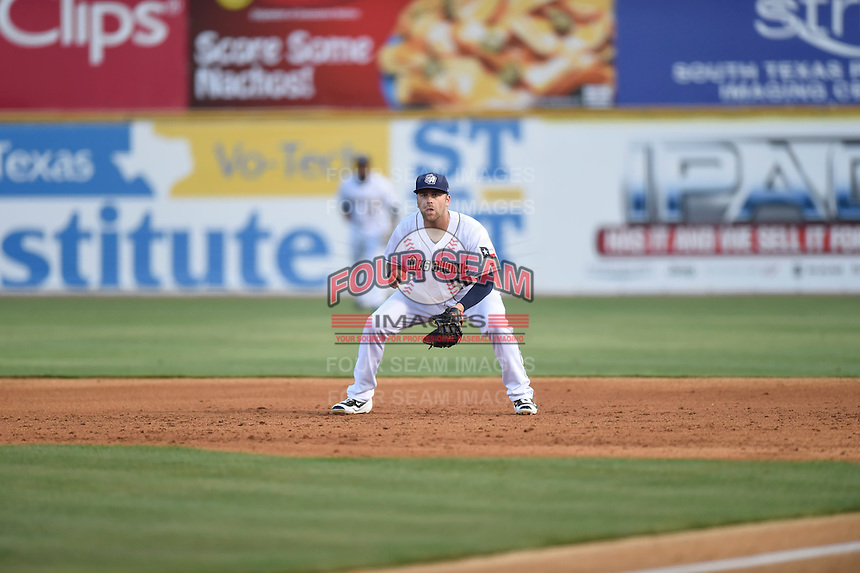 ***Temporary Unedited Reference File***San Antonio Missions first baseman Mike Olt (40) during a game against the Midland RockHounds on April 22, 2016 at Nelson W. Wolff Municipal Stadium in San Antonio, Texas.  San Antonio defeated Midland 8-4.  (Mike Janes/Four Seam Images)