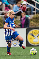 Allston, MA - Sunday, May 1, 2016:  Boston Breakers midfielder McCall Zerboni (77) in a match against the Portland Thorns FC at Jordan Field, Harvard University.