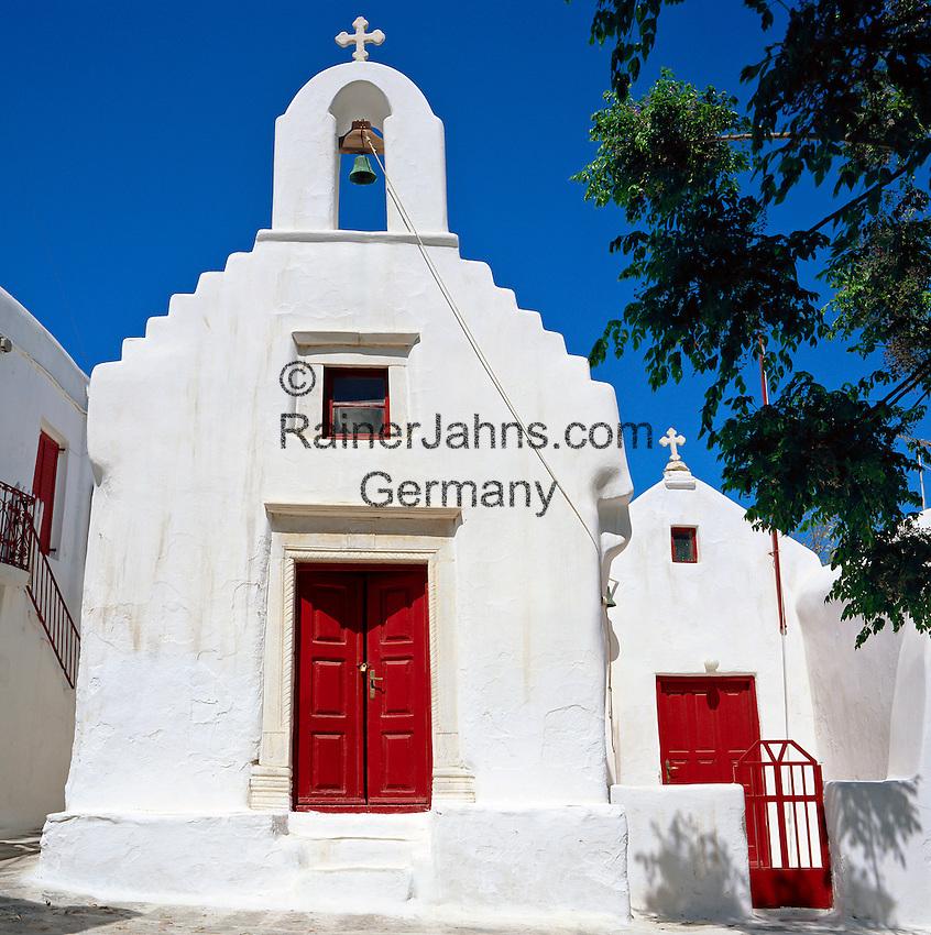 Greece, Cyclades, Mykonos: Church (detail) | Griechenland, Kykladen, Mykonos: Kirche