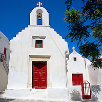 Greece, Cyclades, Mykonos: Church (detail) | Griechenland, Kykladen, Mykonos: Kirche