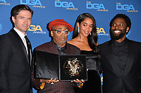 LOS ANGELES, CA. February 02, 2019: Topher Grace, Spike Lee, Laura Harrier & John David Washington at the 71st Annual Directors Guild of America Awards at the Ray Dolby Ballroom.<br /> Picture: Paul Smith/Featureflash
