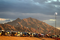 Oct 28, 2016; Las Vegas, NV, USA; Overall view of RVs and motorhomes overlooking NHRA qualifying for the Toyota Nationals at The Strip at Las Vegas Motor Speedway. Mandatory Credit: Mark J. Rebilas-USA TODAY Sports