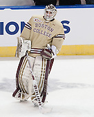 Brian Billett (BC - 1) - The Boston College Eagles defeated the University of Denver Pioneers 6-2 in their NCAA Northeast Regional semi-final on Saturday, March 29, 2014, at the DCU Center in Worcester, Massachusetts.