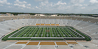 July 30, 2014: Field Turf installation at Notre Dame Stadium.
