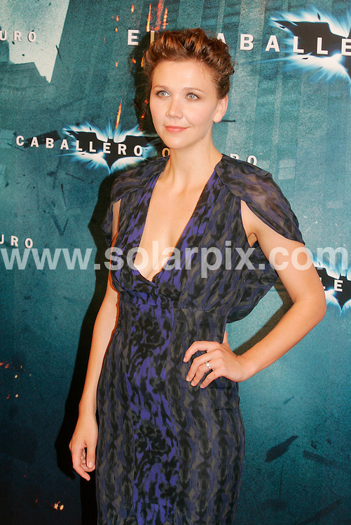 """**ALL ROUND PICTURES FROM SOLARPIX.COM**.**WORLDWIDE SYNDICATION RIGHTS** AND NO PUBLICATION IN SPAIN**.The premiere for the Batman film """"Dark Knight"""", held at the Cine Coliseum, Barcelona, Spain. 23rd July 2008..This pic: Maggie Gyllenhaal..JOB REF: 6905 MER       DATE: 23_07_2008.**MUST CREDIT SOLARPIX.COM OR DOUBLE FEE WILL BE CHARGED* *UNDER NO CIRCUMSTANCES IS THIS IMAGE TO BE REPRODUCED FOR ANY ONLINE EDITION WITHOUT PRIOR PERMISSION*"""