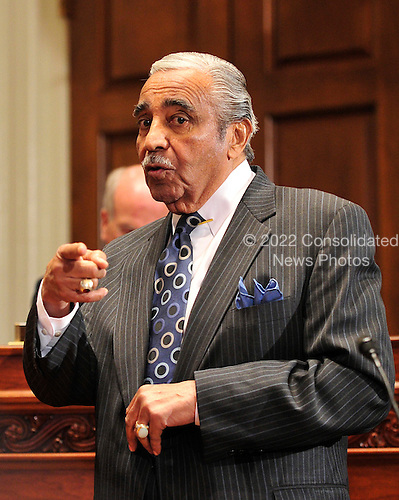 United States Representative Charles Rangel (Democrat of New York) speaks to the U.S. House Committee on Standards of Official Conduct as the committee deliberates his punishment after his conviction on 11 of 13 ethics violations in Washington, D.C. on Thursday, November 18, 2010..Credit: Ron Sachs / CNP.(RESTRICTION: NO New York or New Jersey Newspapers or newspapers within a 75 mile radius of New York City)