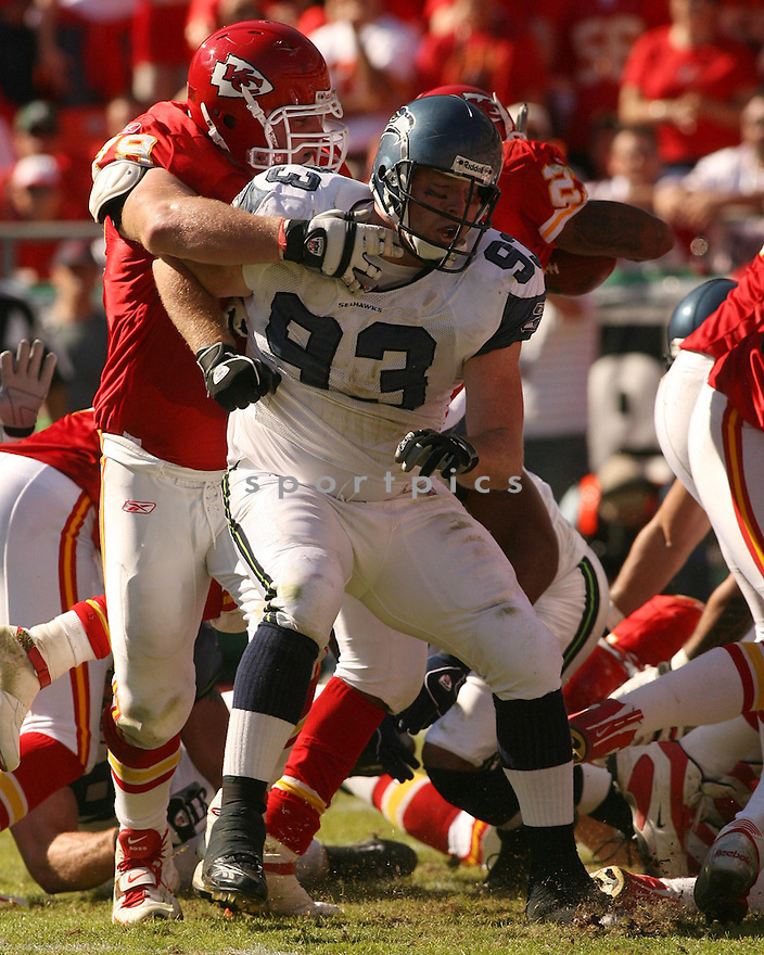 CRAIG TERRILL, of the Seattle Seahawks in action against the Kansas City Chiefs on October 29, 2006 in Kansas City, MO...Chiefs win 35-28..Kevin Tanaka/ SportPics