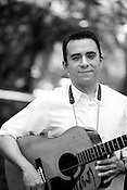 June 06, 2008. Durham, NC..North Carolina based salsa band, Orquesta GarDel.. David Garcia, tres (cuban guitar).