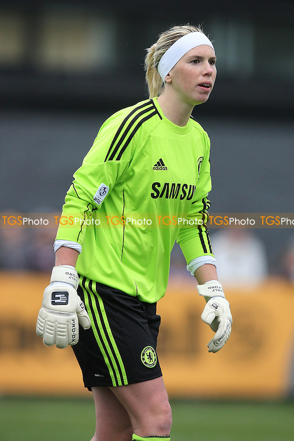 Chelsea goalkeeper Carly Telford - Chelsea Ladies vs Arsenal Ladies - FA Women's Super League Football at Tooting & Mitcham United FC - 13/04/11 - MANDATORY CREDIT: Gavin Ellis/TGSPHOTO - Self billing applies where appropriate - Tel: 0845 094 6026